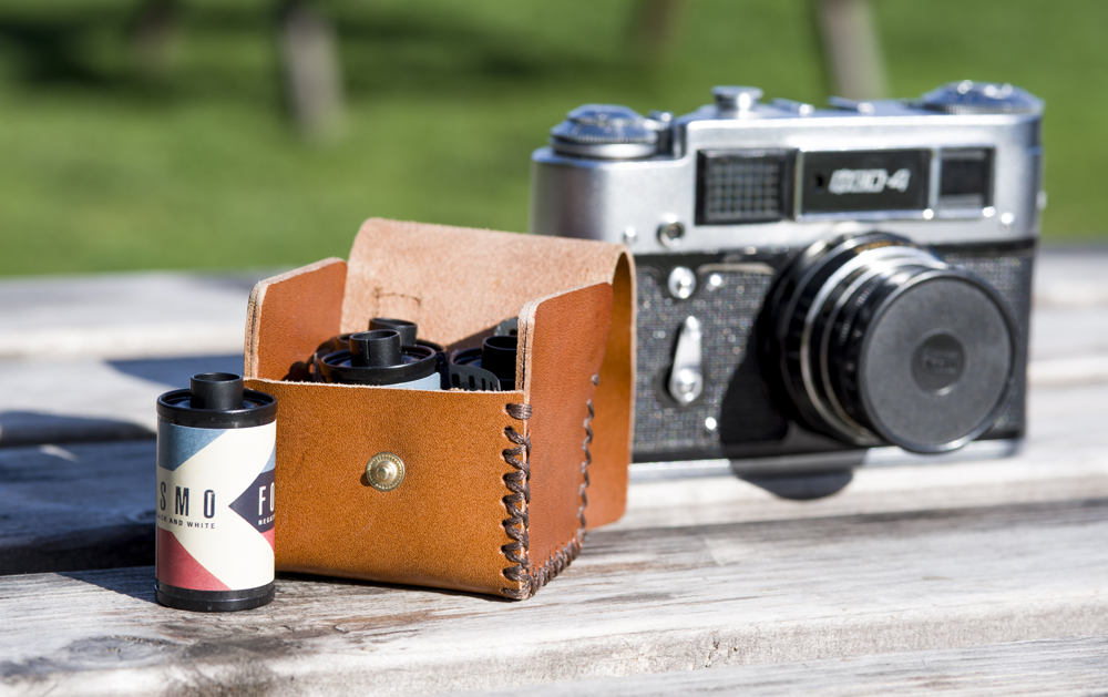Leather film case (Pic: Darren Russell)
