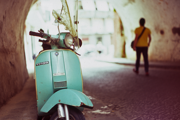 Scooter in Amalfi (Pic: Stephen Dowling)