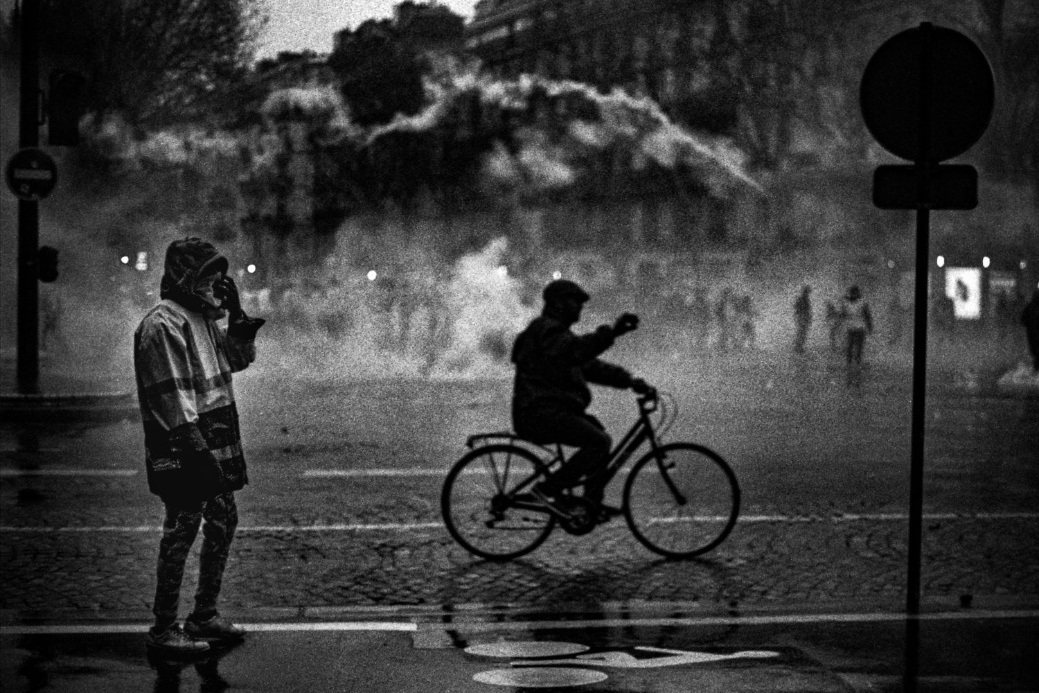 Paris protests by Clement Marion
