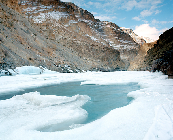 The ice on Zanskar River