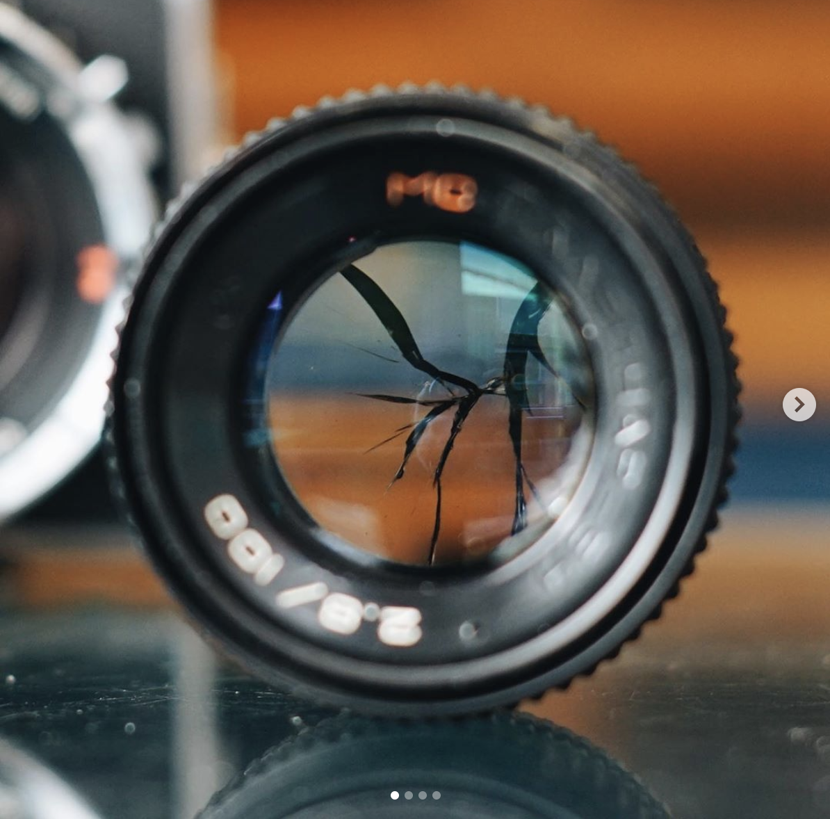 Kaleinar lens with broken element