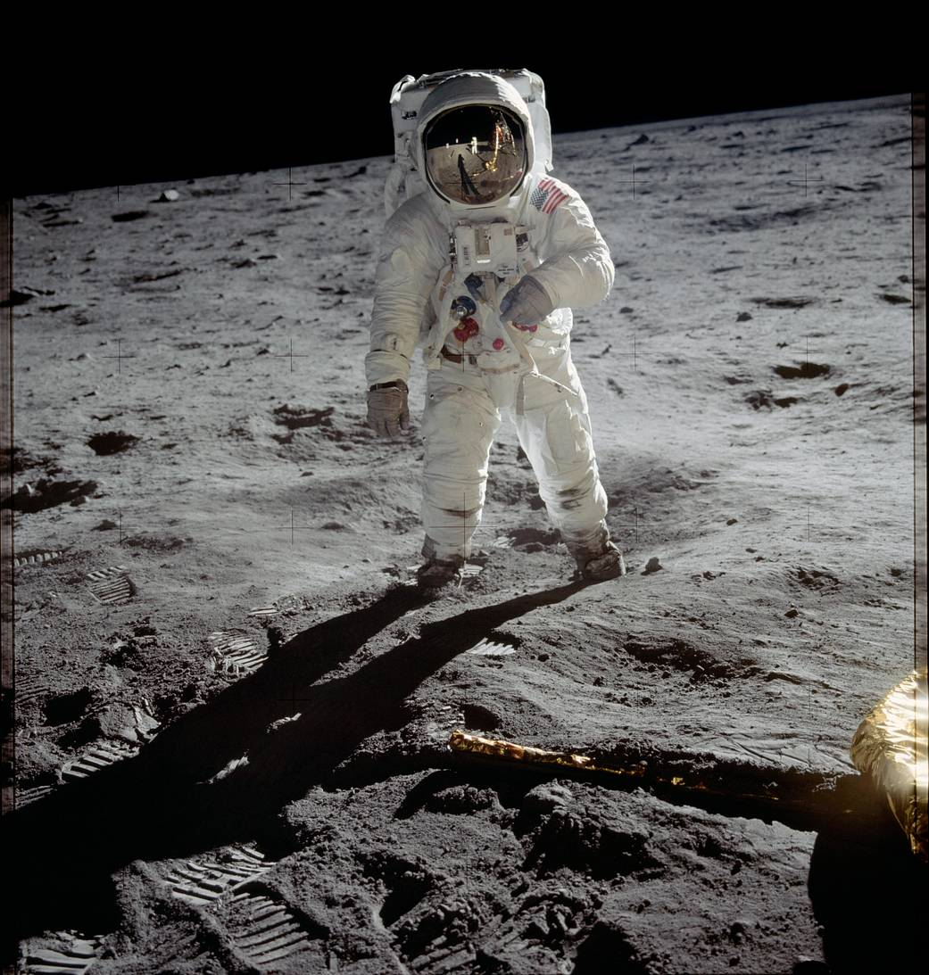 Buzz Aldrin on the Moon (Pic: Nasa)