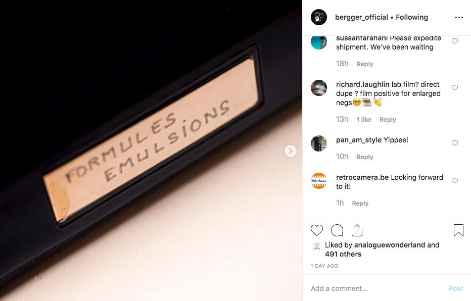 Berrger Instagram post (Pic: Bergger/Instagram)