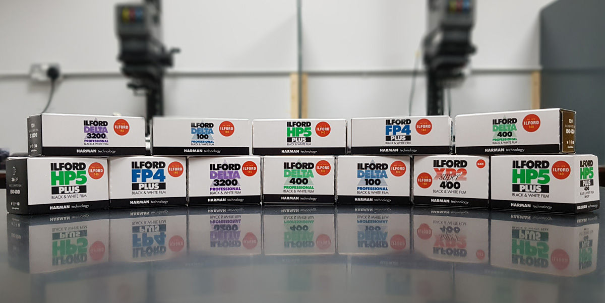Ilford-branded films (Pic: Ilford Photo)