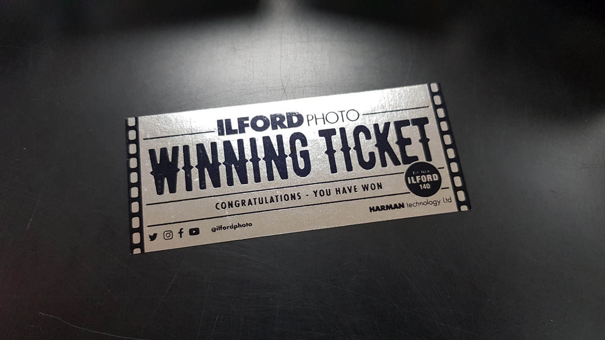 Silver ticket (Pic: Ilford Photo)
