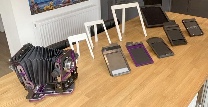 Chroma camera and holders (Pic: Chromagraphica/Kickstarter)