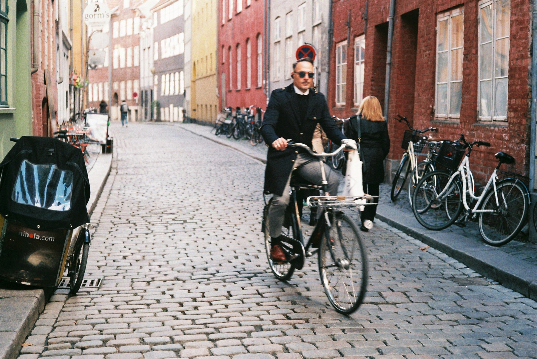 Man cycling in Copenhagen (Pic: Sroyon Mukherjee)
