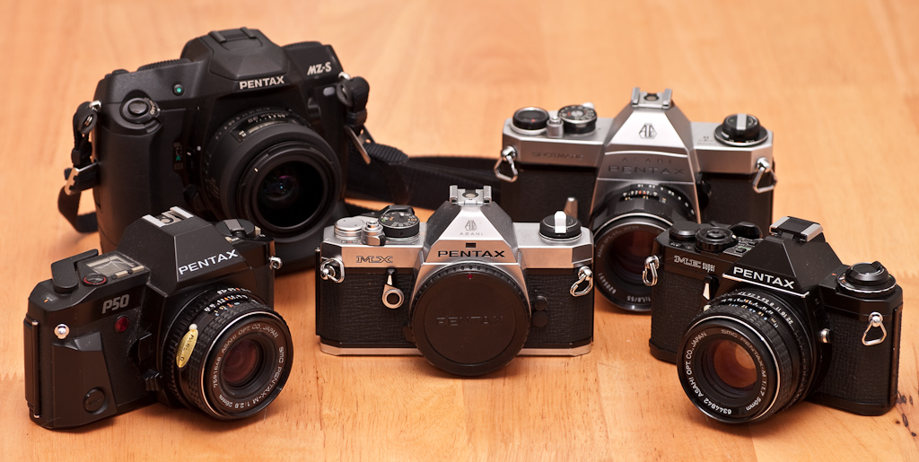 Pentax film cameras (Pic: Thomas Backa/Flickr)