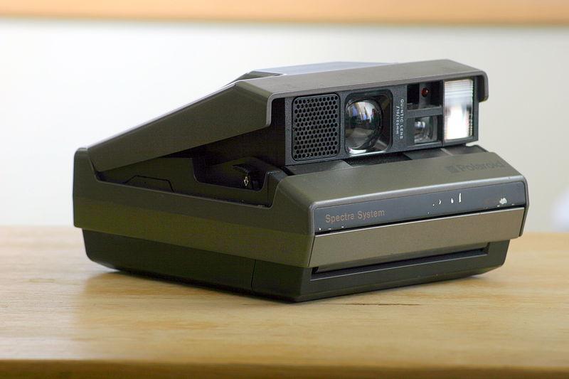 A Polaroid Spectra camera (Pic: Andrew Butitta/Wikimedia Commons)
