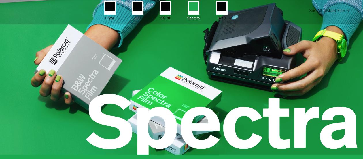 Polaroid spectra film (Pic: Polaroid Originals)