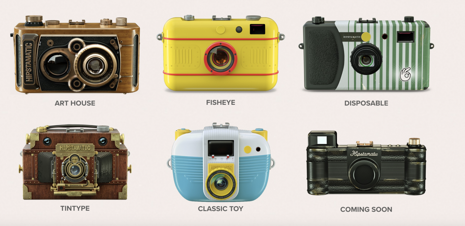Hipstamatic X cameras (Pic: Hipstamatic)