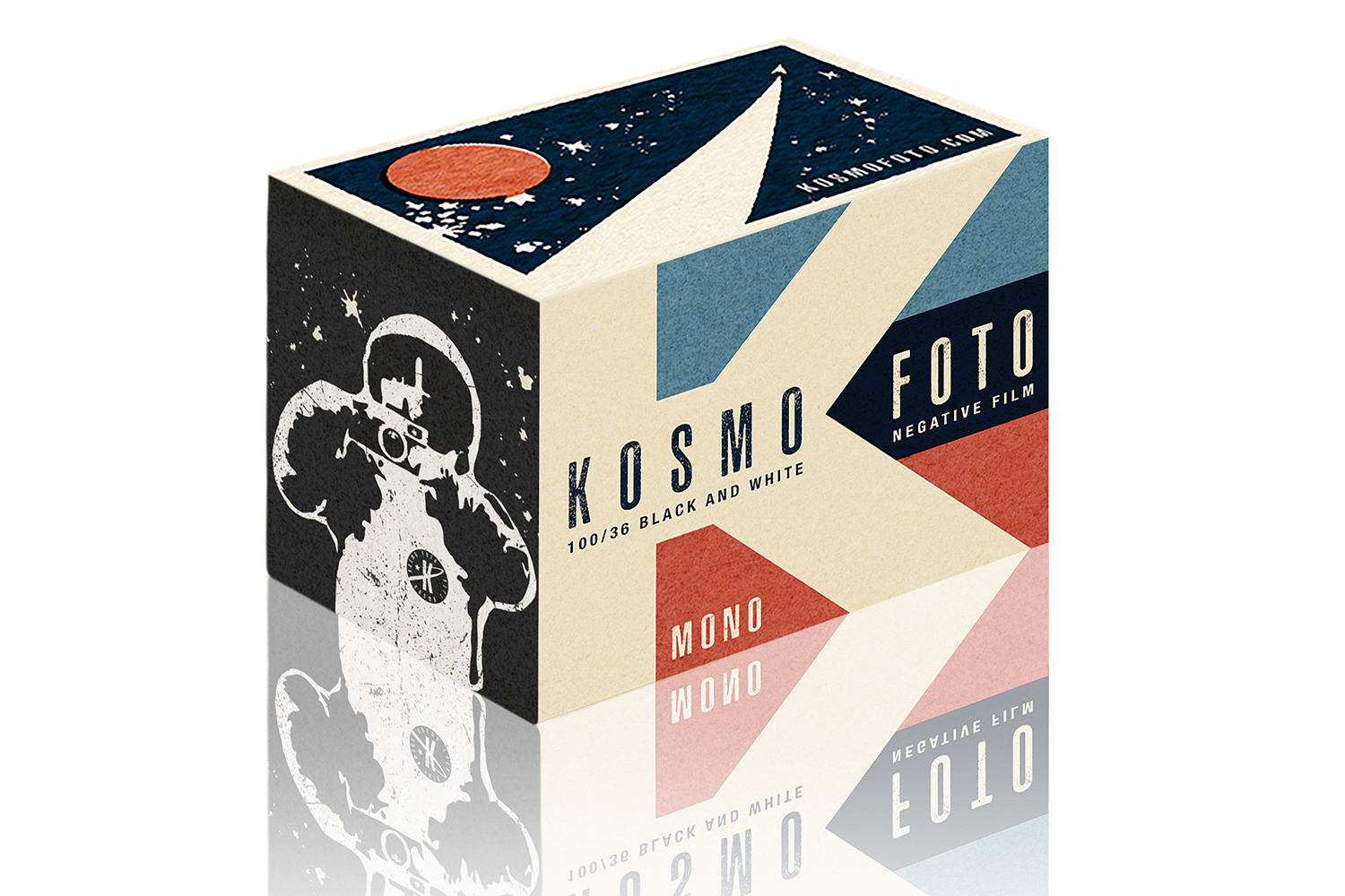 Kosmo Foto Monos' new 35mm packaging (Pic: My Mate Does Art)