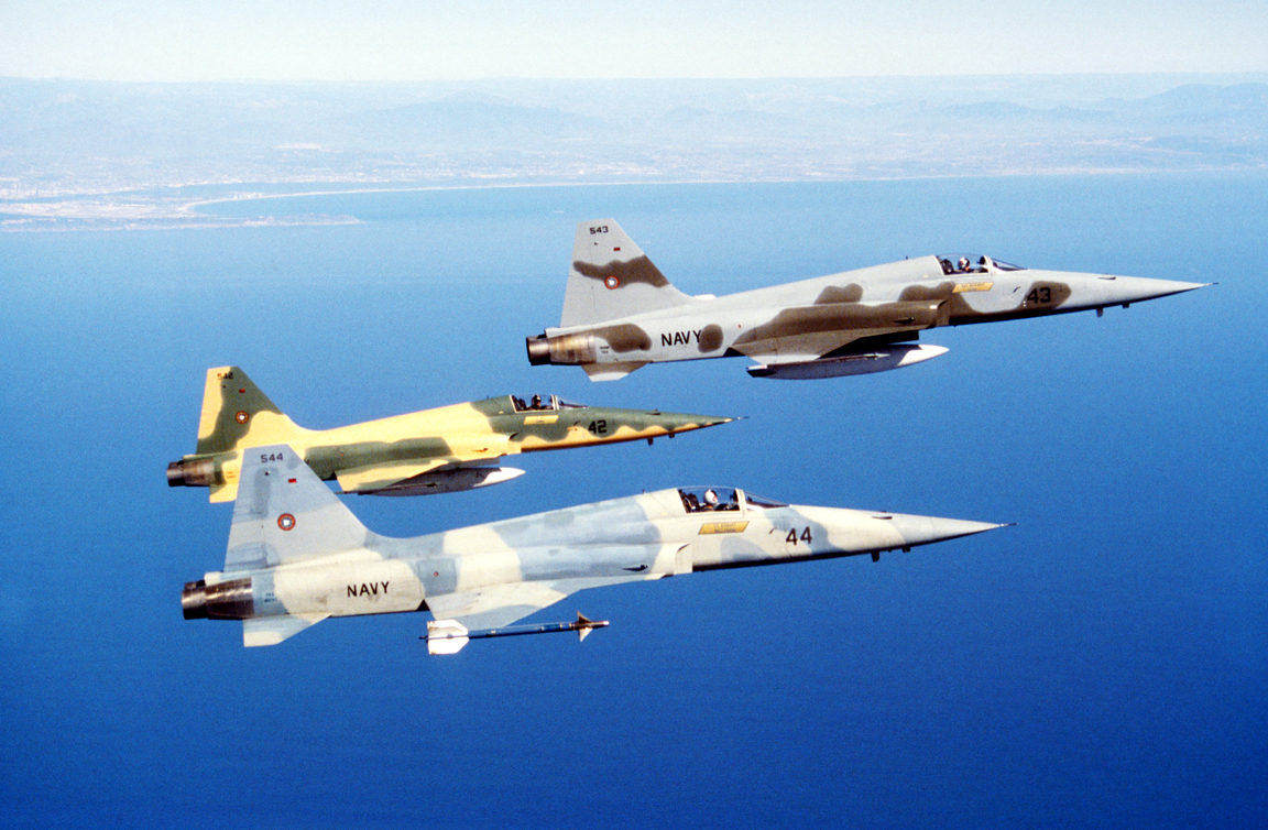 Trio of F-5 fighters (Pic: Dave Baranek)