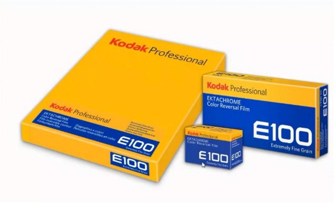 Kodak Ektachrome E100 films (Pic: Kodak Alaris)