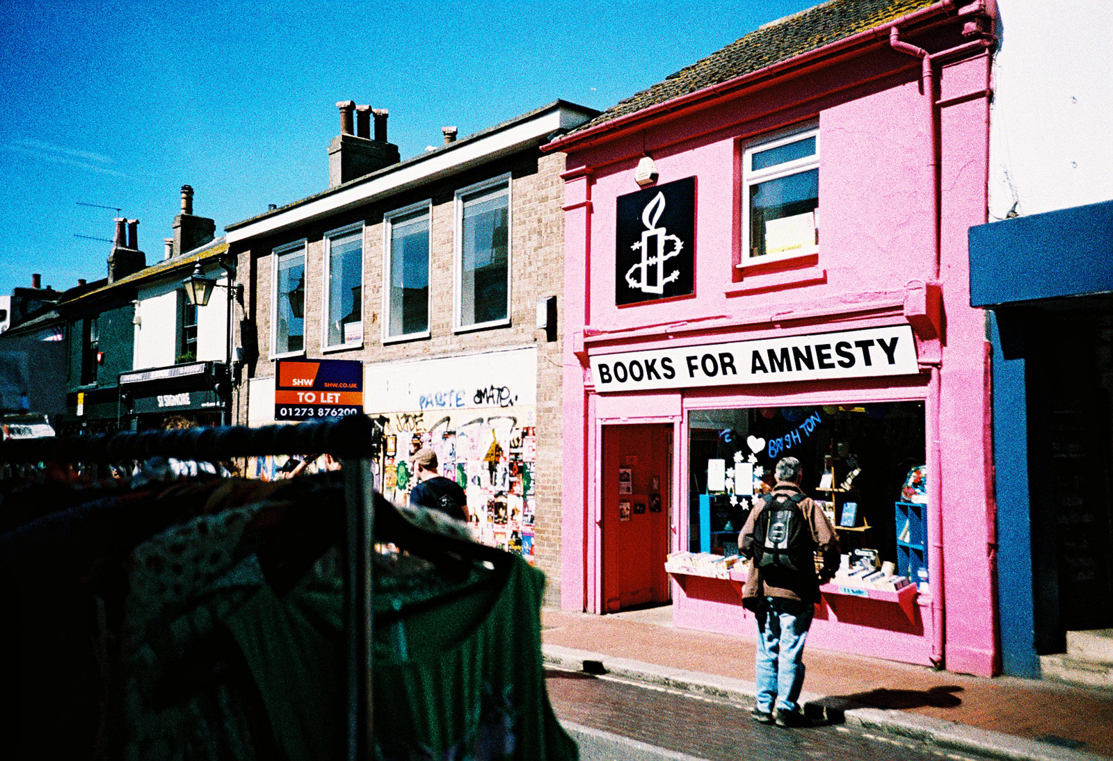 Brighton shopfront and clothes