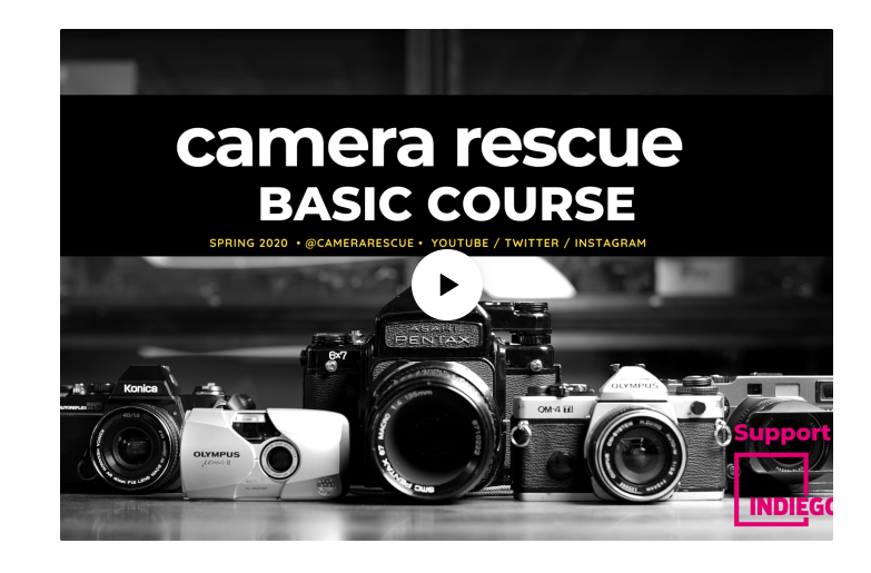 Indiegogo fundraiser page (Pic: Camera Rescue/Indiegogo)
