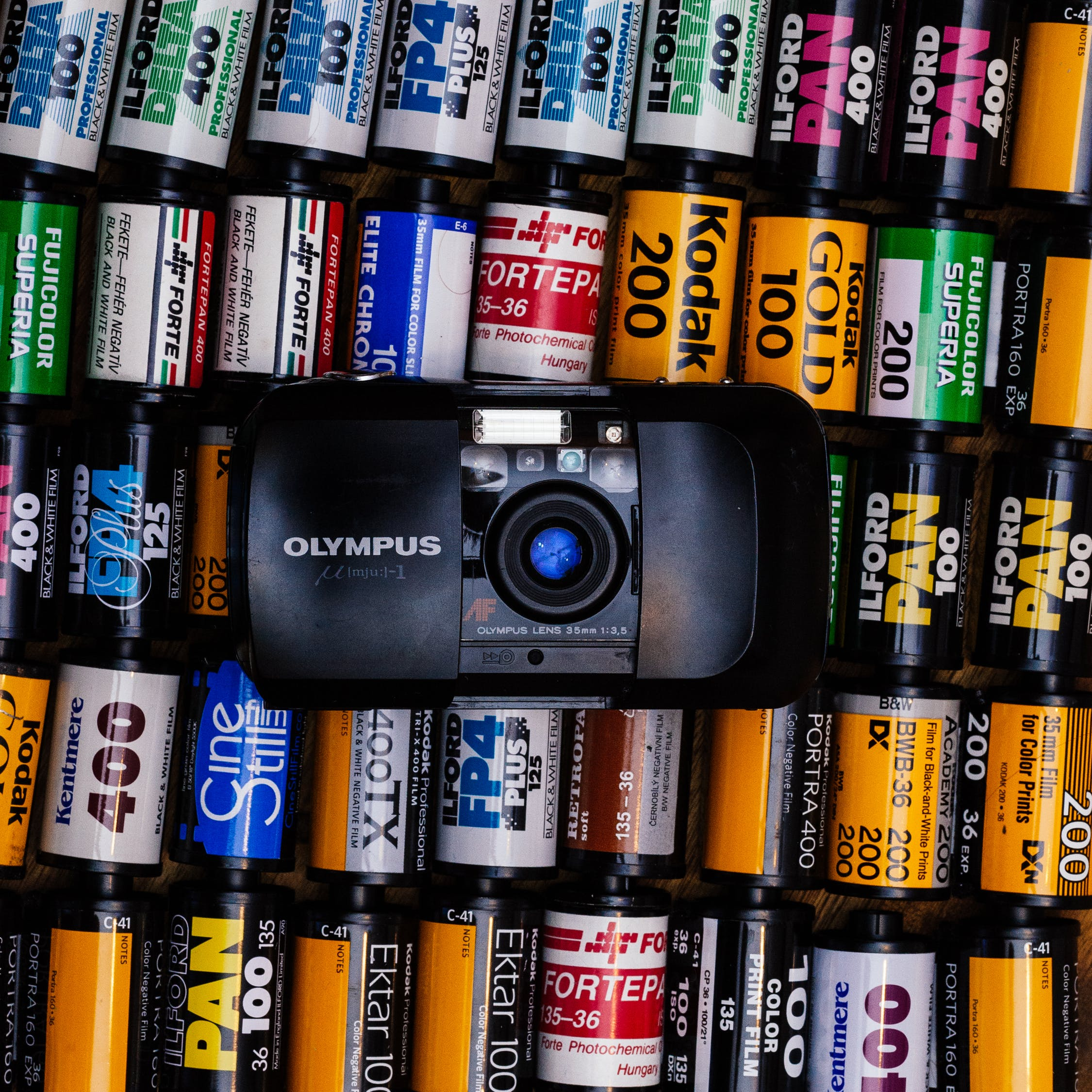 Olympus camera and film (Pic: Balajzs Benjamin/Pexels)