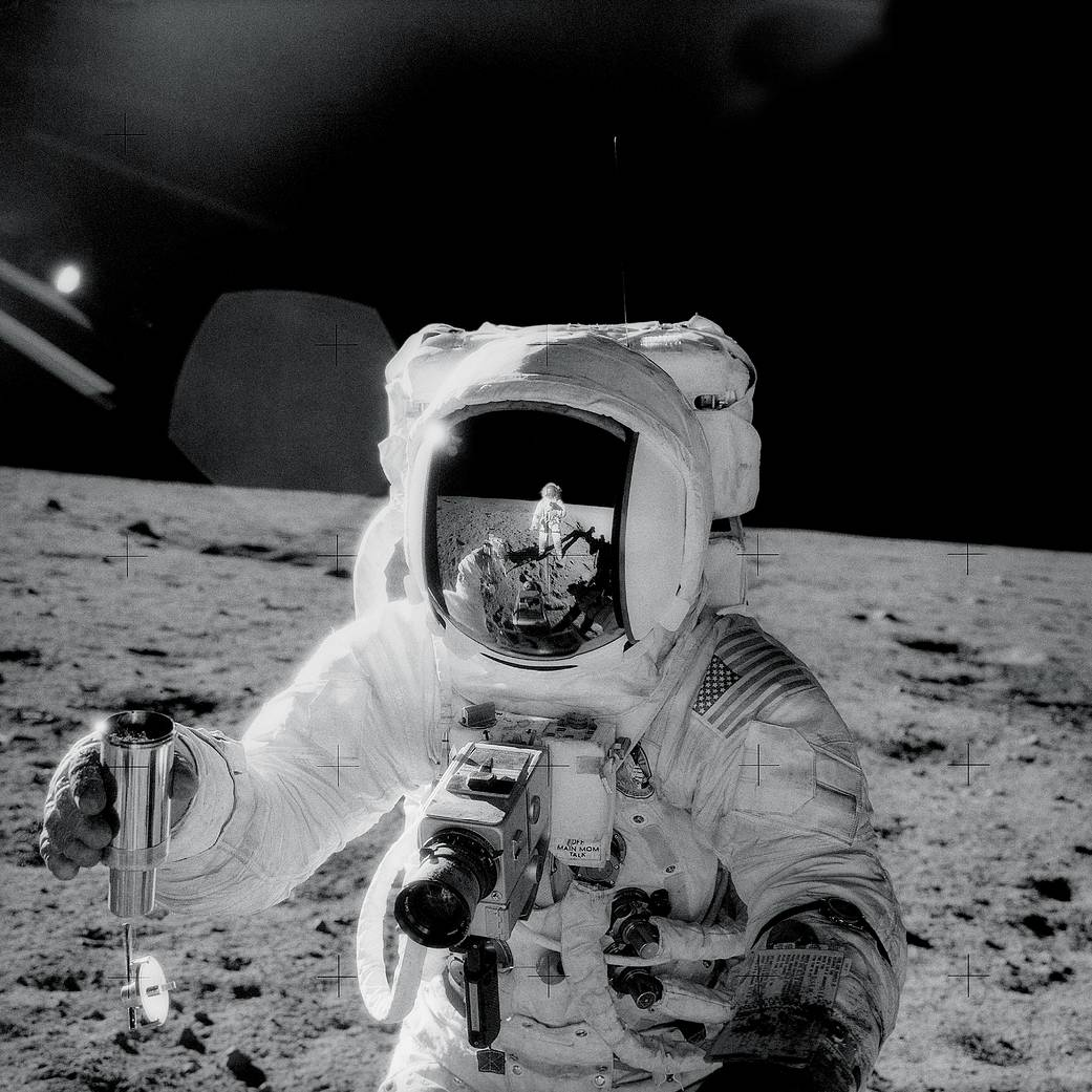 Al Bean on Moon surface (Pic: Nasa)