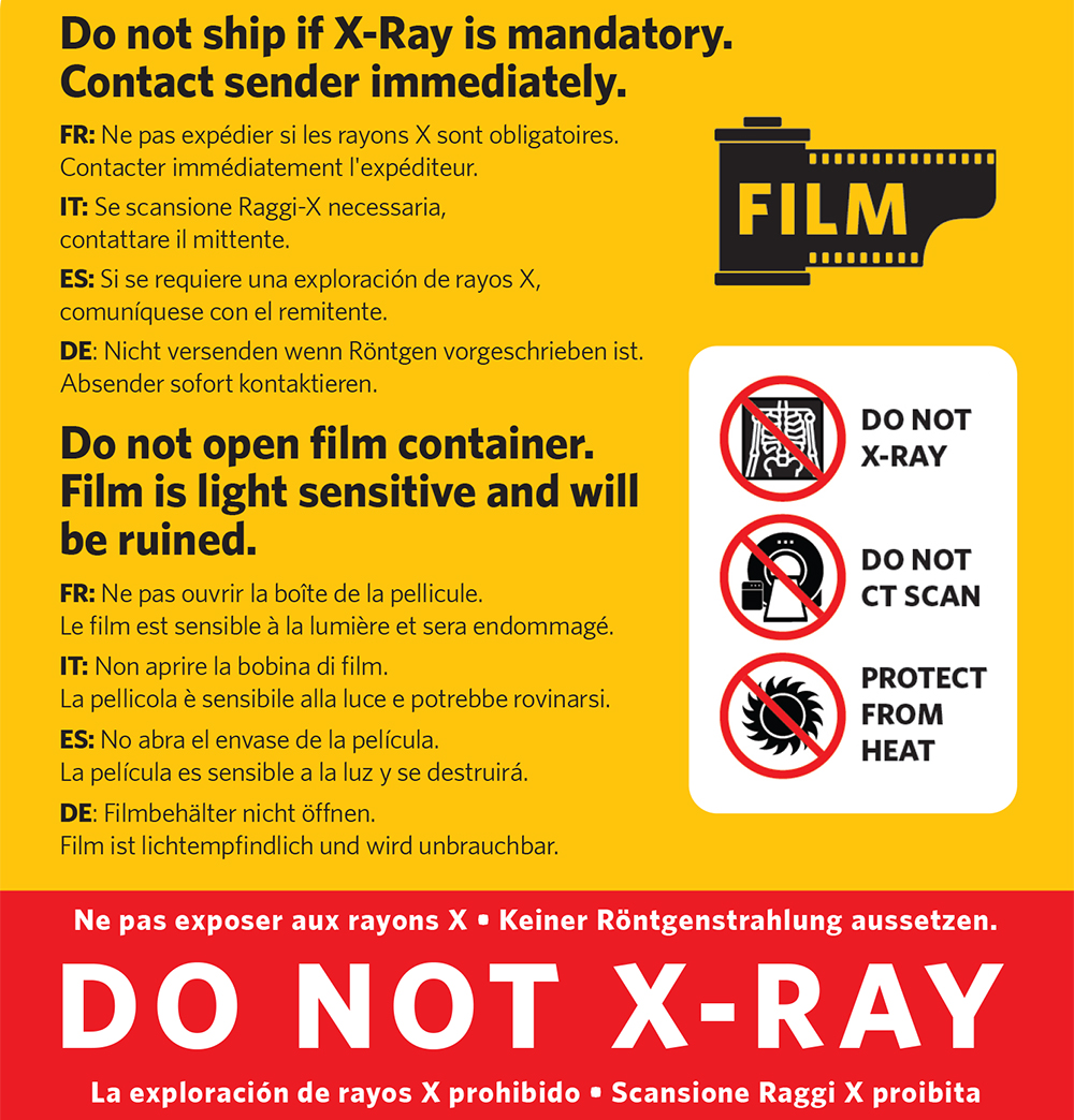 Don not X-ray scanners (Pic: Kodak Alaris)