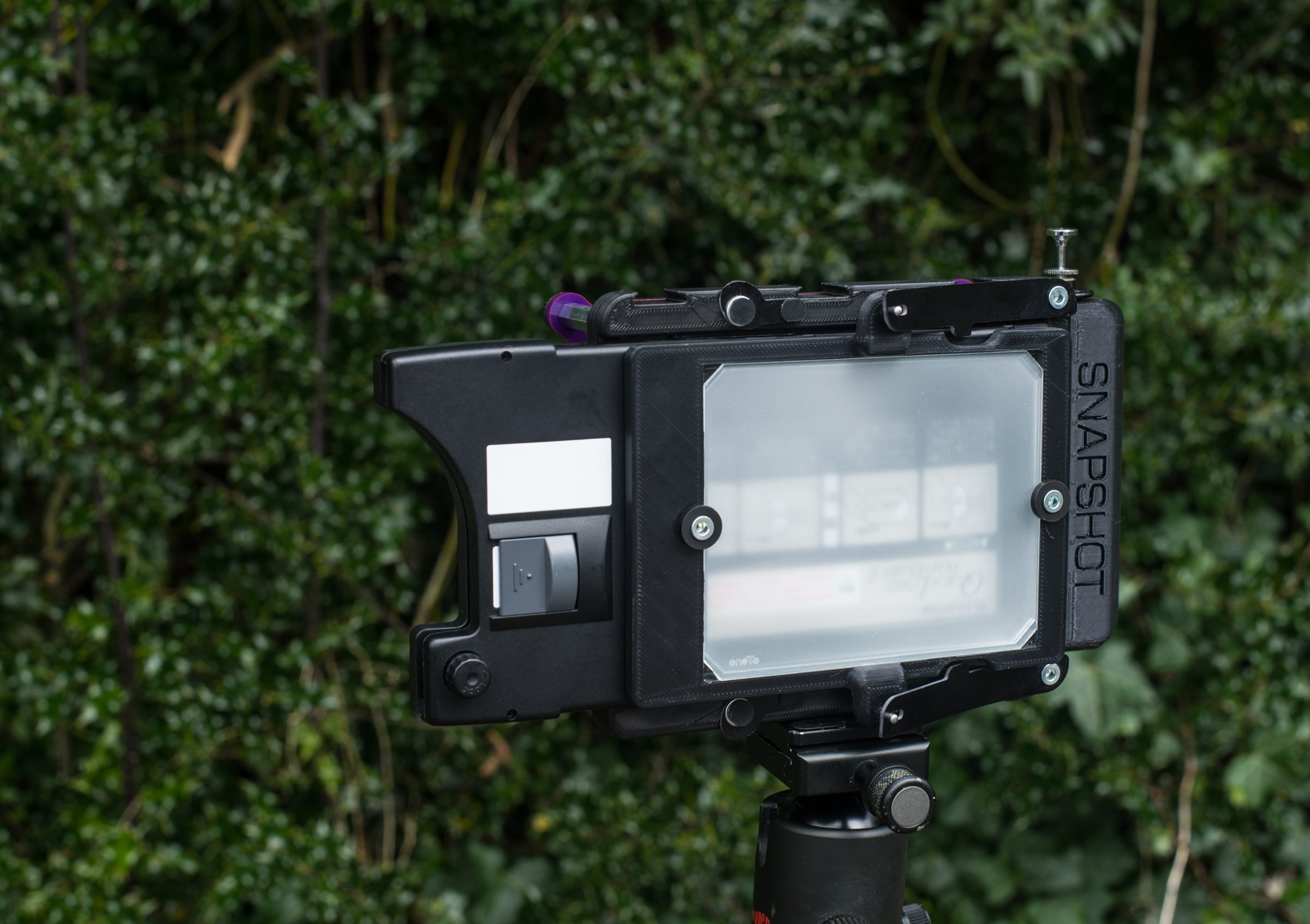Camera with plate (Pic: Steve Lloyd)