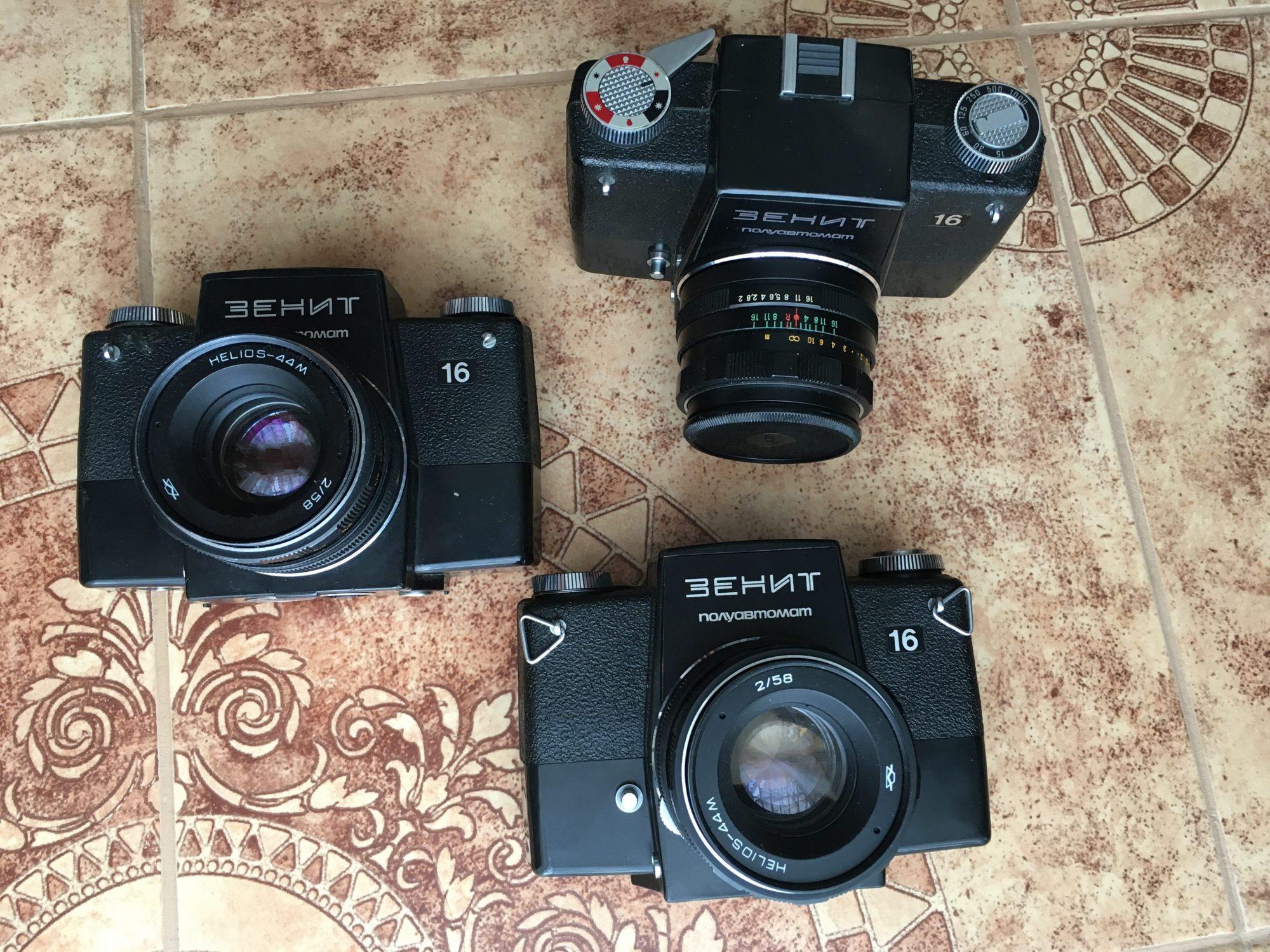 Three Zenit-16 cameras (Pic: Oleg Khalyavin)