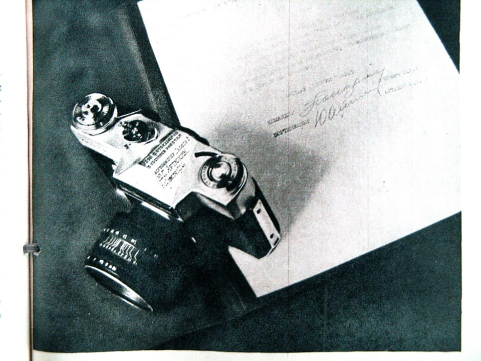 Zenit-E and letter (Pic: Soviet Photo)