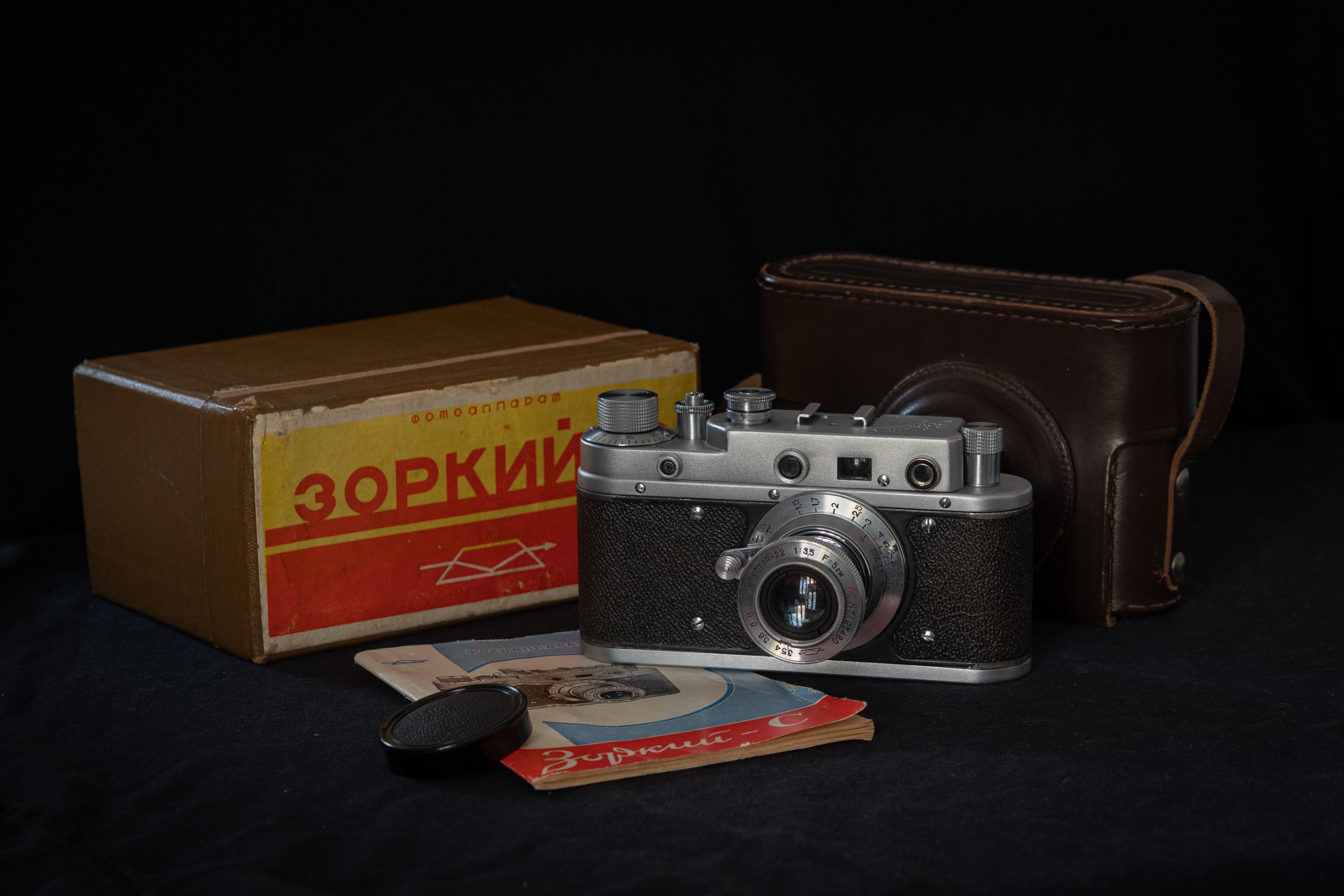 Zorki S with box (Pic: Andrey Khludeyev)