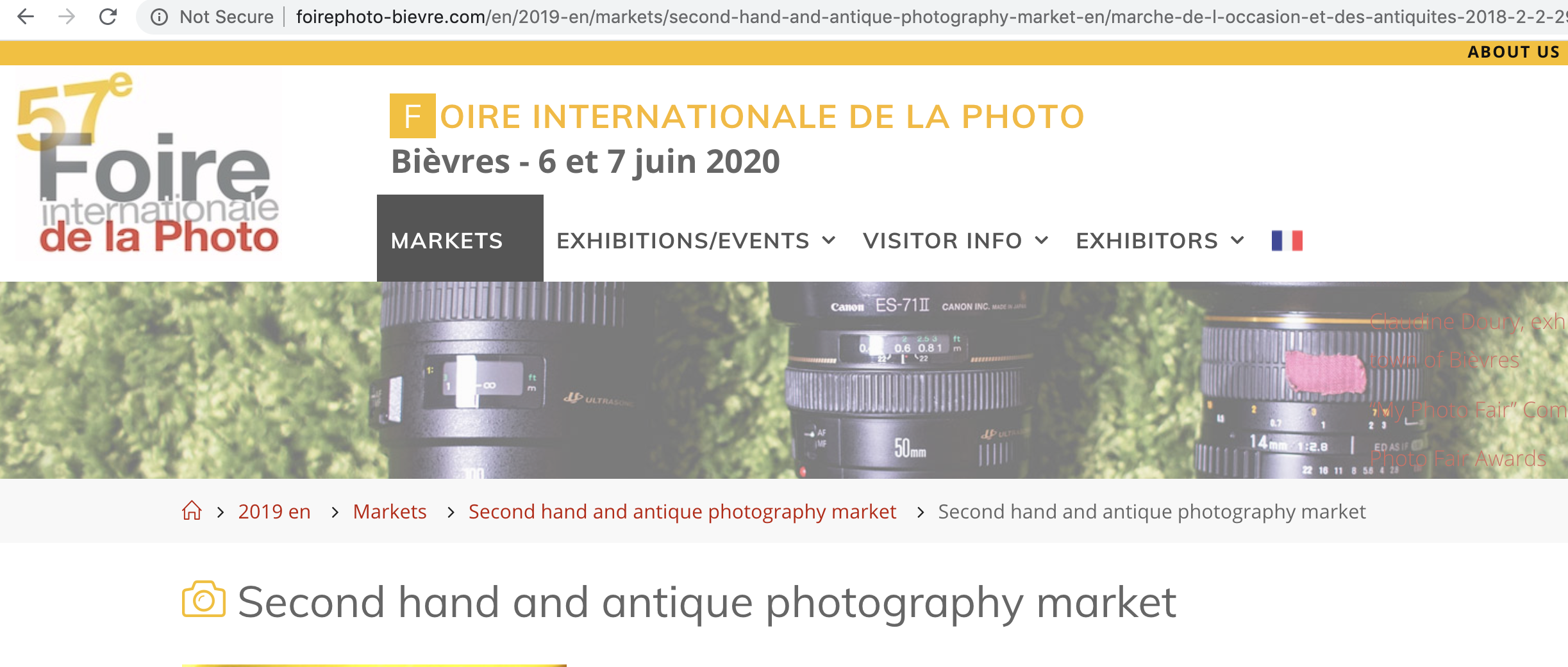 Screengrab from Bievres site (Pic: Bievres International Photo Fair)