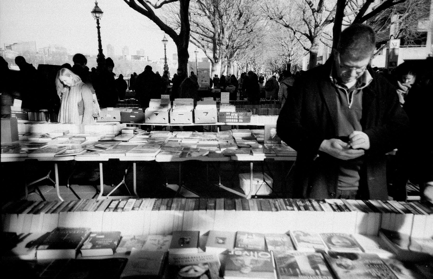 South Bank book stall (Pic: Stephen Dowling)