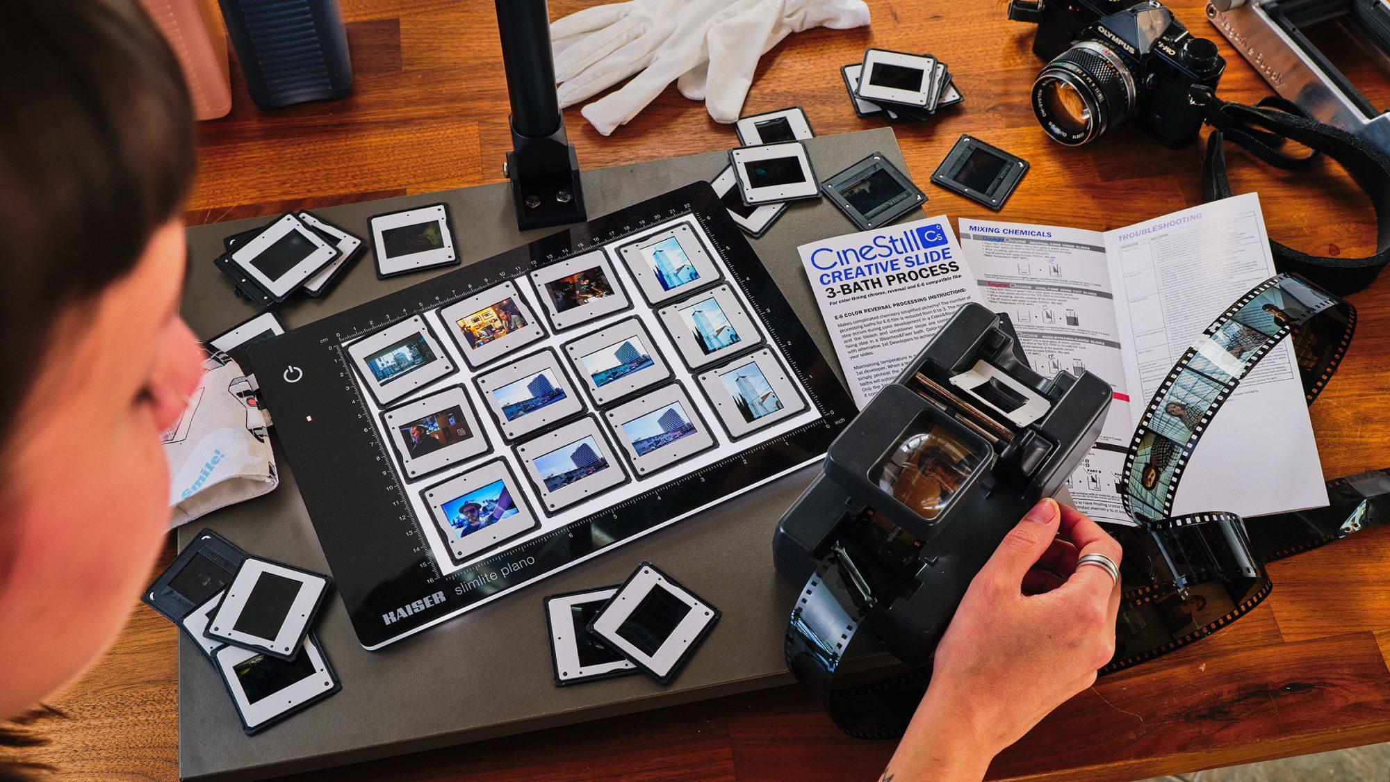 E6 films and camera (Pic: Cinestill)
