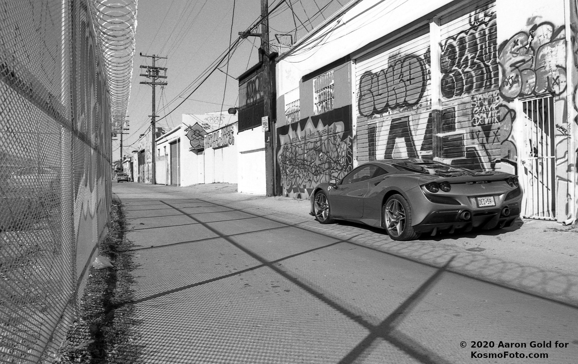 Sports car on empty street (Pic: Aaron Gold)