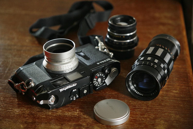 Voigtlander Bessa R and lenses (Pic: Lester Ledesma)