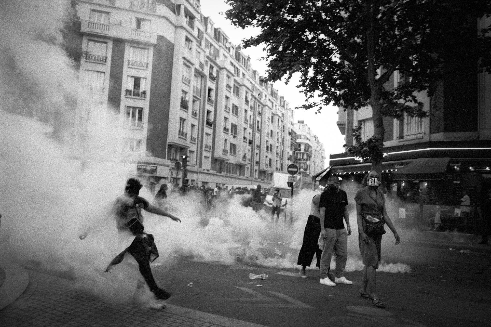 Street protest in Paris (Pic: Geoffrey Belhadj)
