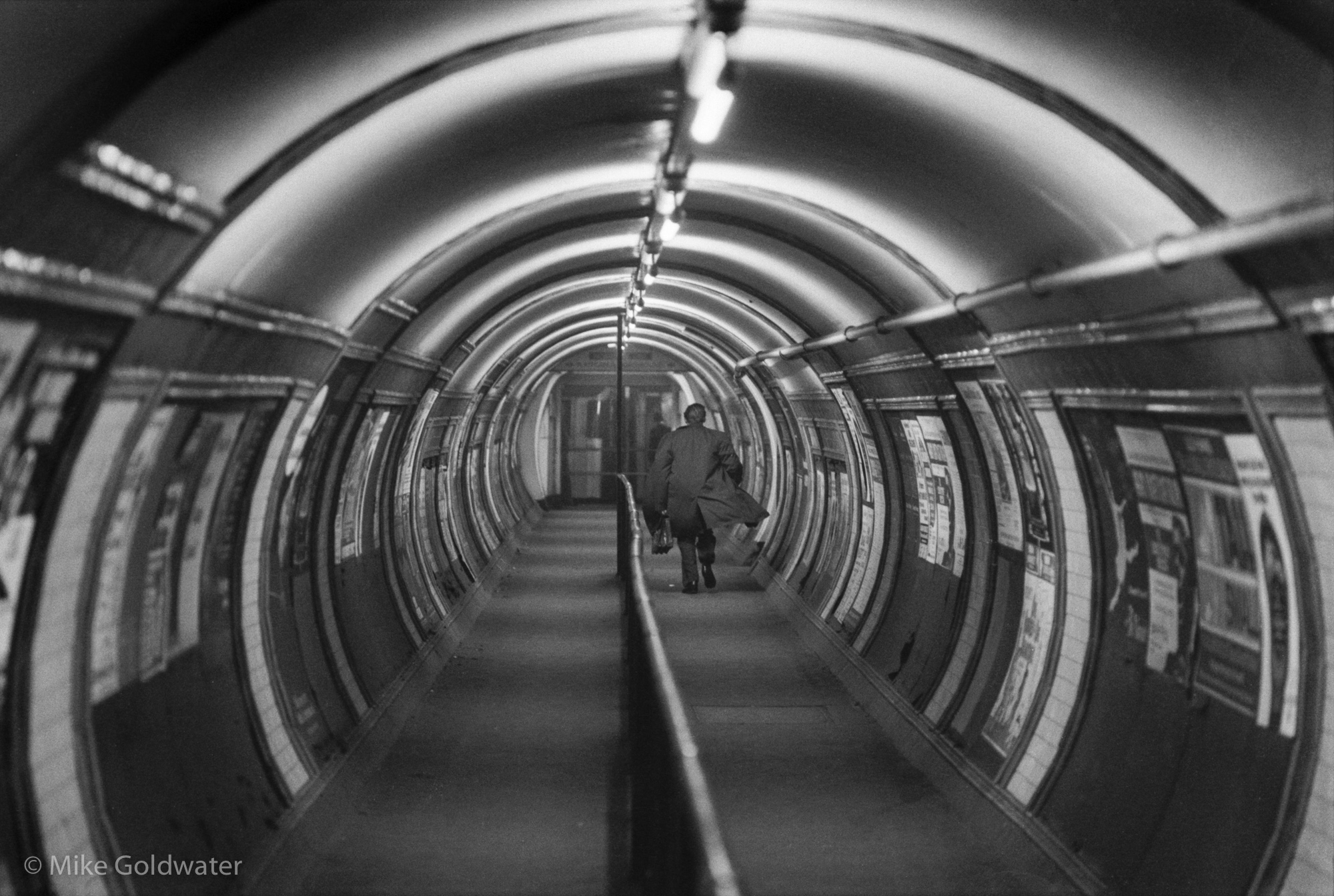 Man in Tube tunnel (Pic: Mike Goldwater)