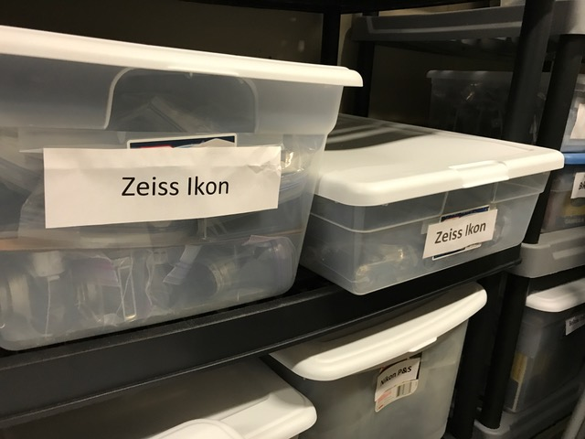 Boxes of Zeiss Ikon cameras (Pic: Paul Rybolt)