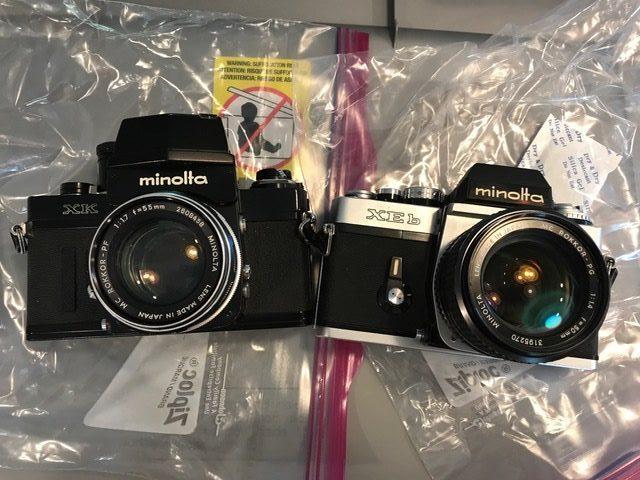 Two Minolta cameras (Pic: Paul Rybolt)