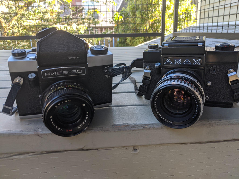 Kiev-60 and Arax-60 (Pic: Conor Corkrum)