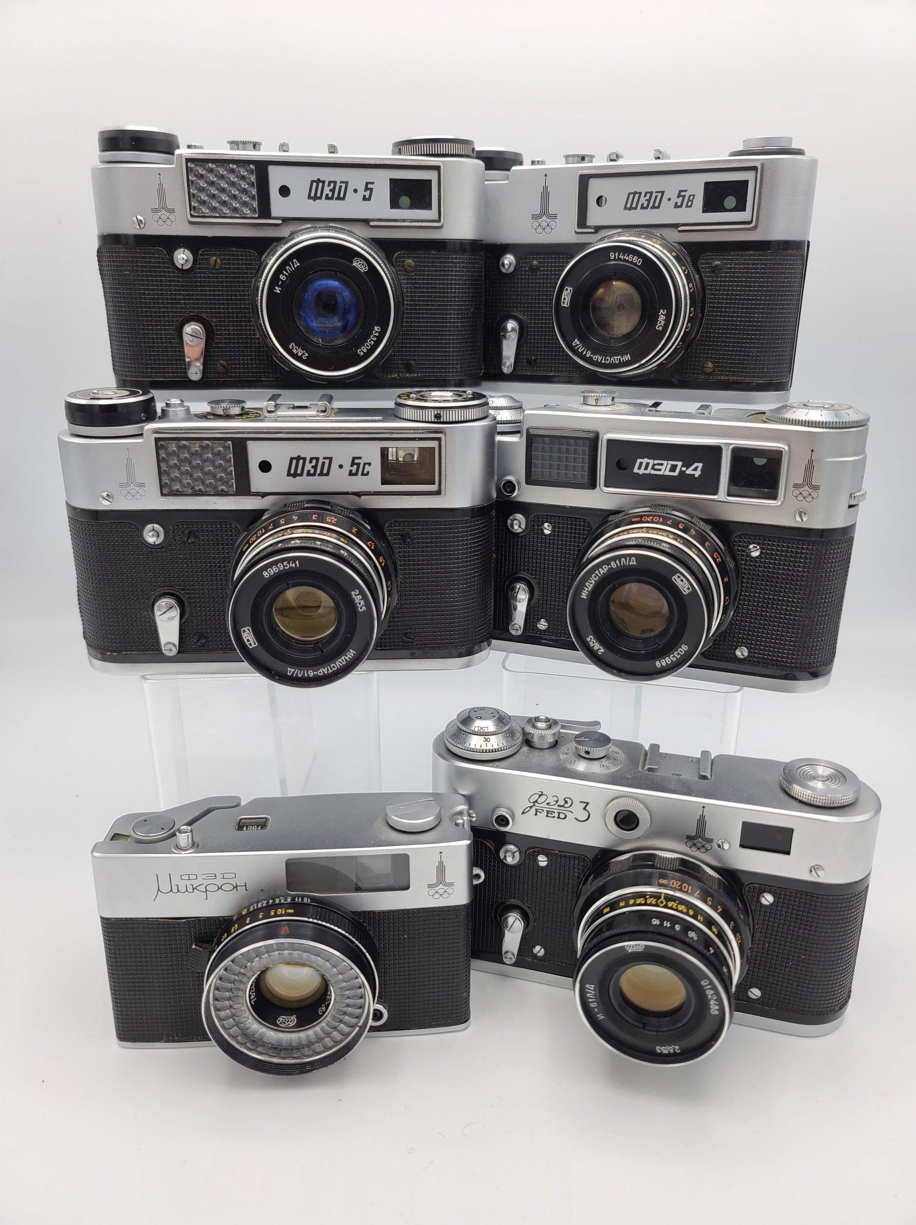 FED Olympic cameras (Pic: Vladislav Kern)