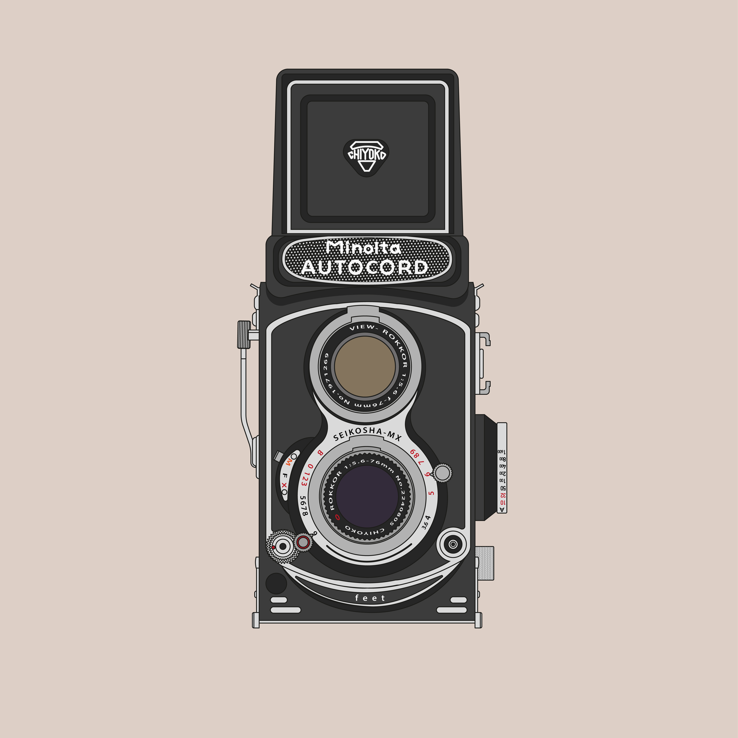 Minolta Autocord (Graphic: David Ortiz)