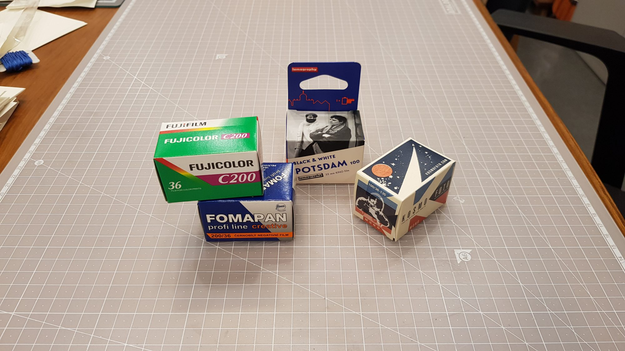 35mm film cartons (Pic: Heejin Song)
