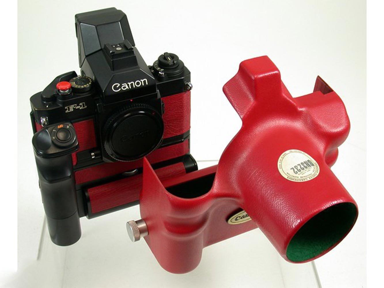 Canon F1 and housing (Pic: camera-gentleman/eBay)