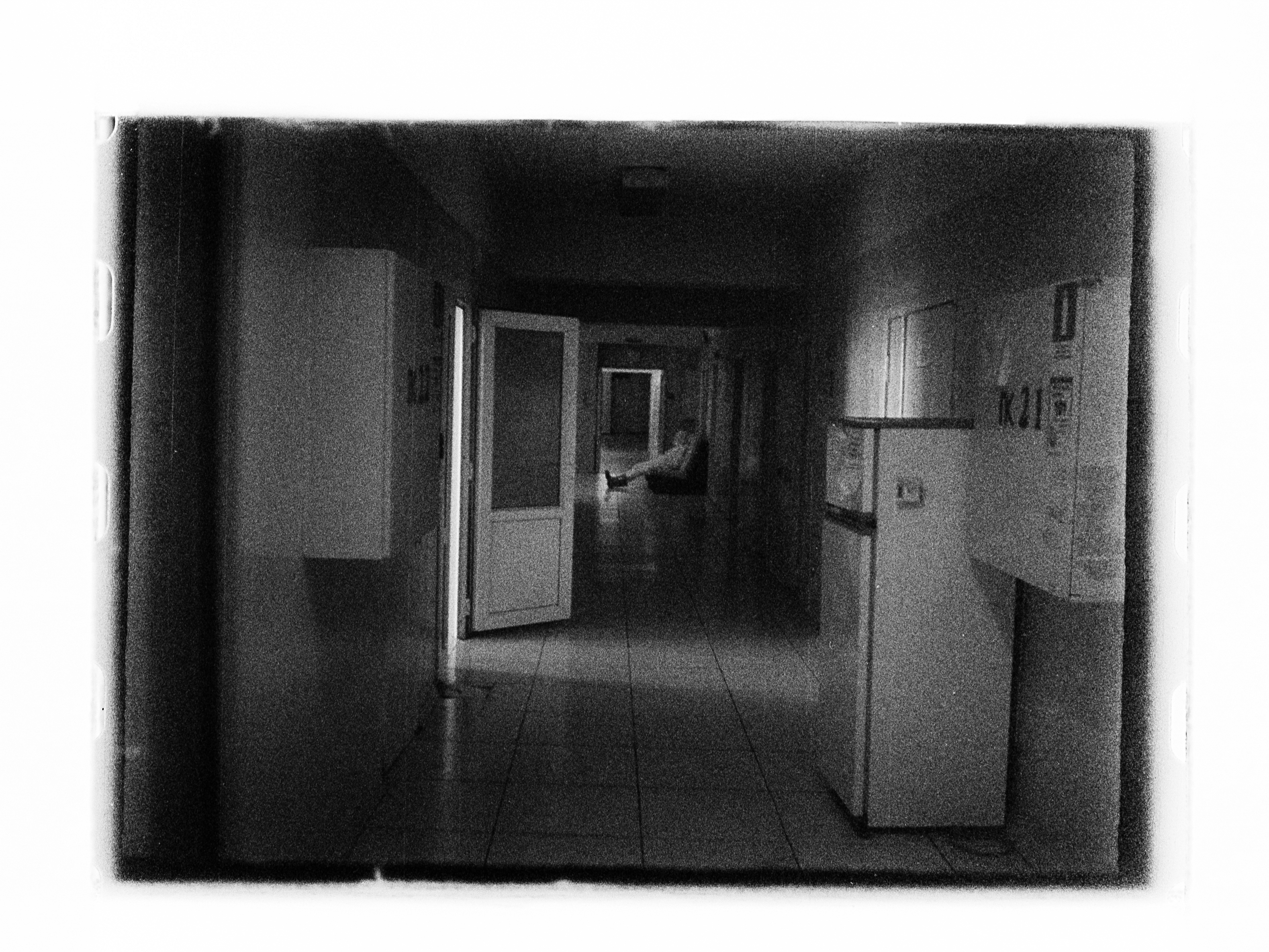 Hospital corridor at night (Pic: Andrey Khludeyev)