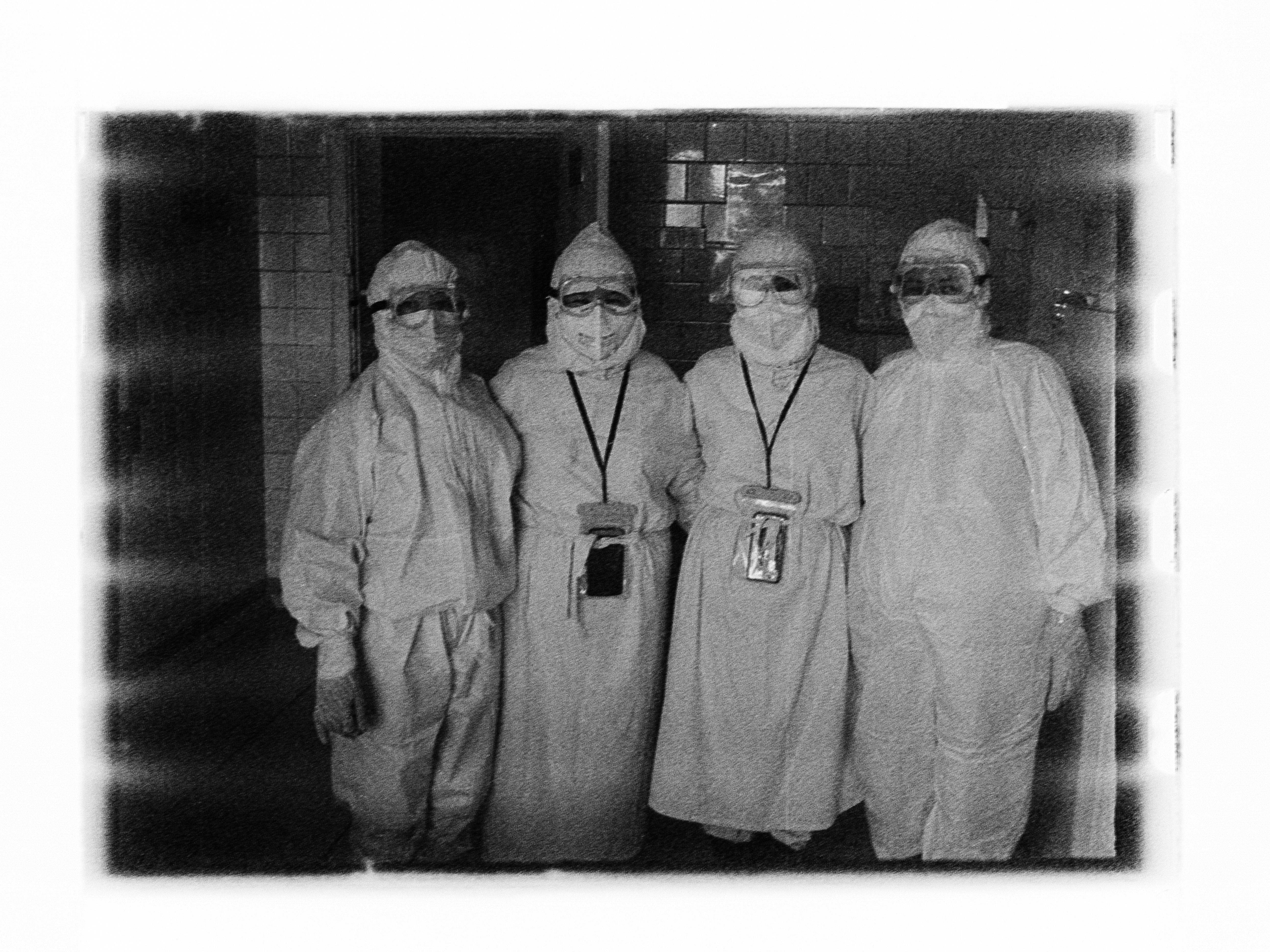 Medics posing (Pic: Andrey Khludeyev)