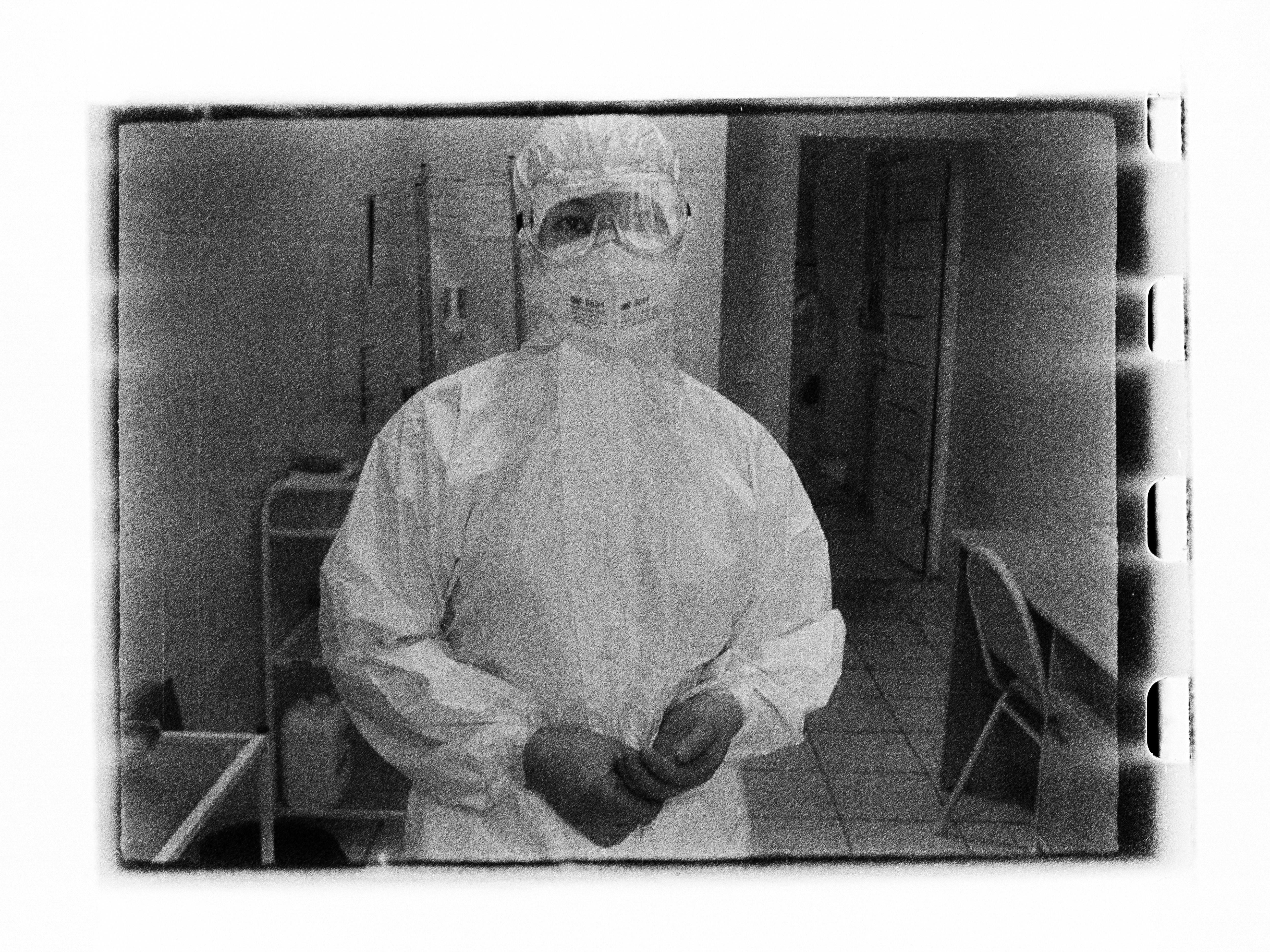 Medic posing (Pic: Andrey Khludeyev)