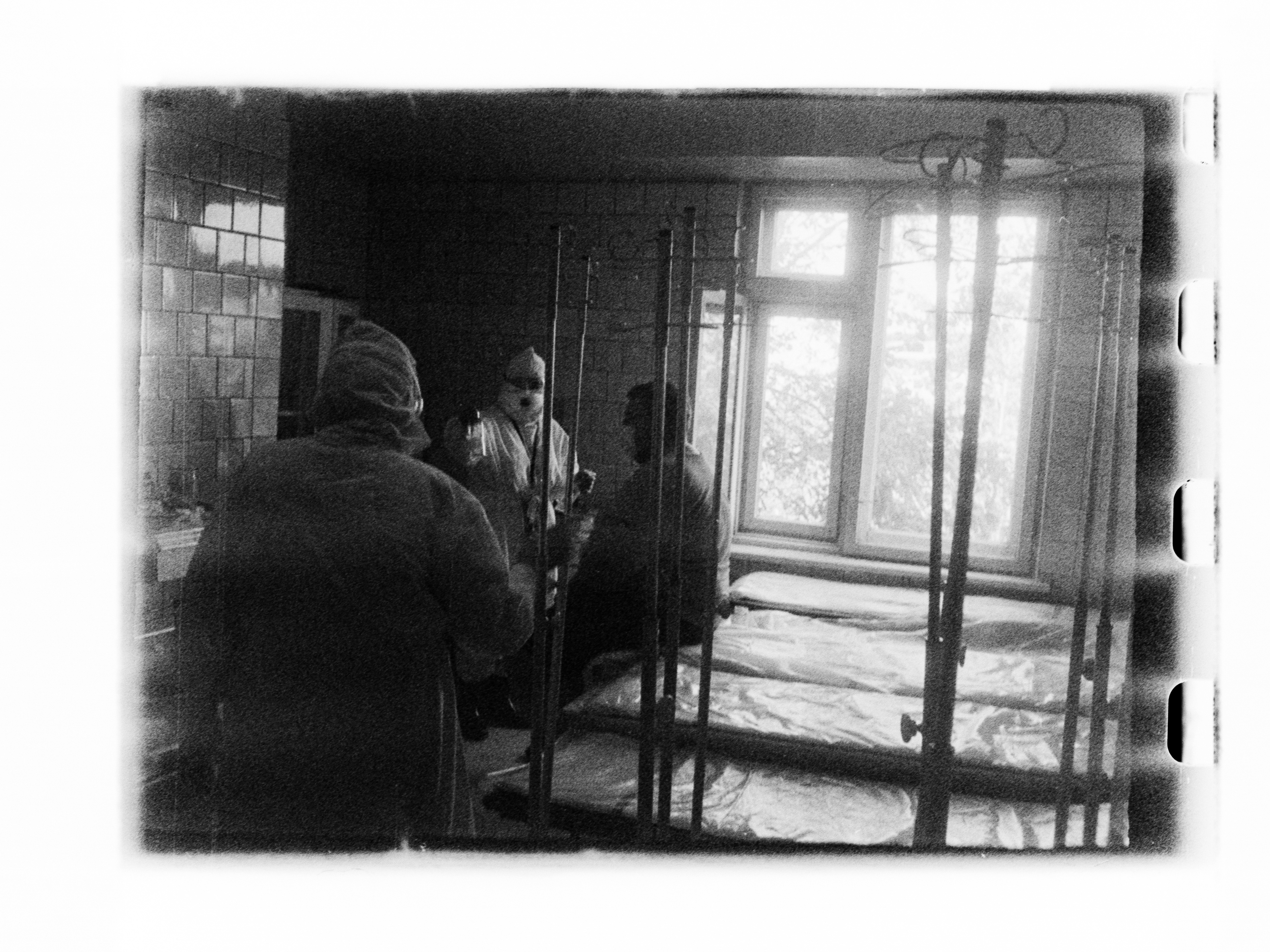 Patients leaving ward (Pic: Andrey Khludeyev)