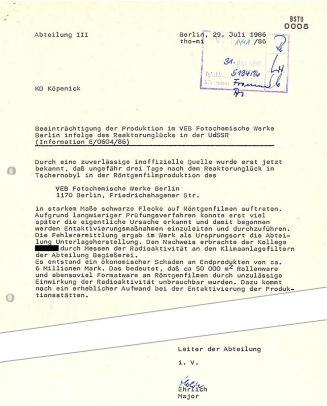 Stasi report