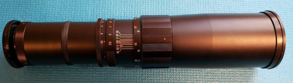 Tele Astranar 400/6.3 lens (Pic: Totally Trading Cards/eBay)