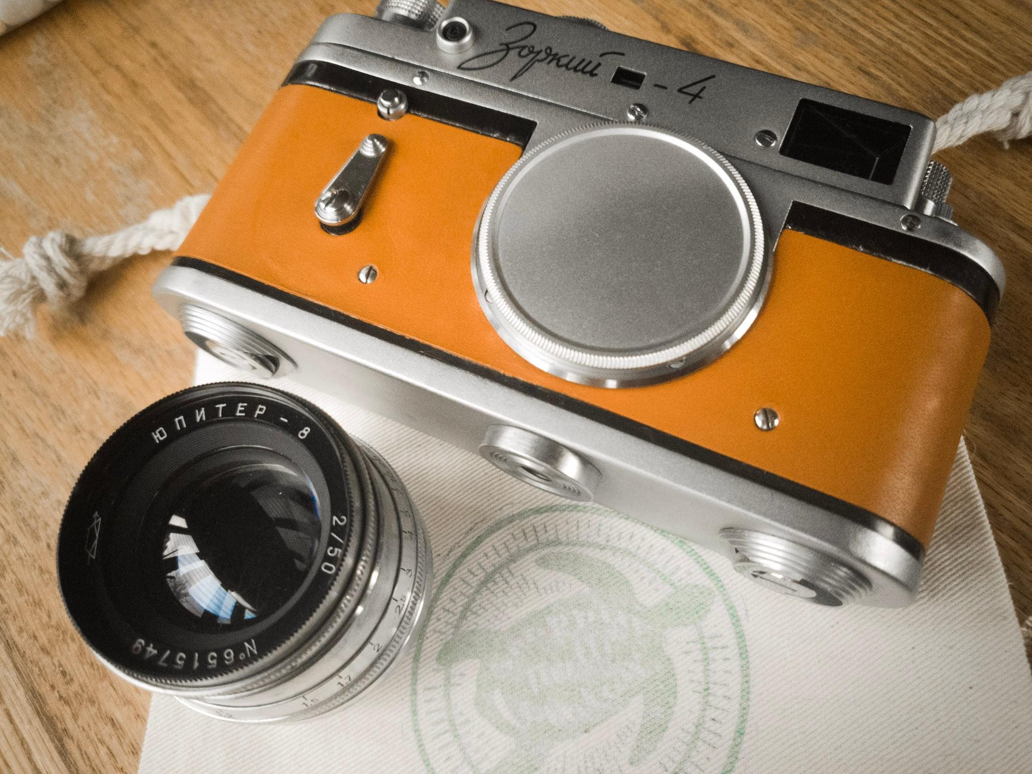 Zorki 4 and lens (Pic: Caleb Snyder Dicesa)