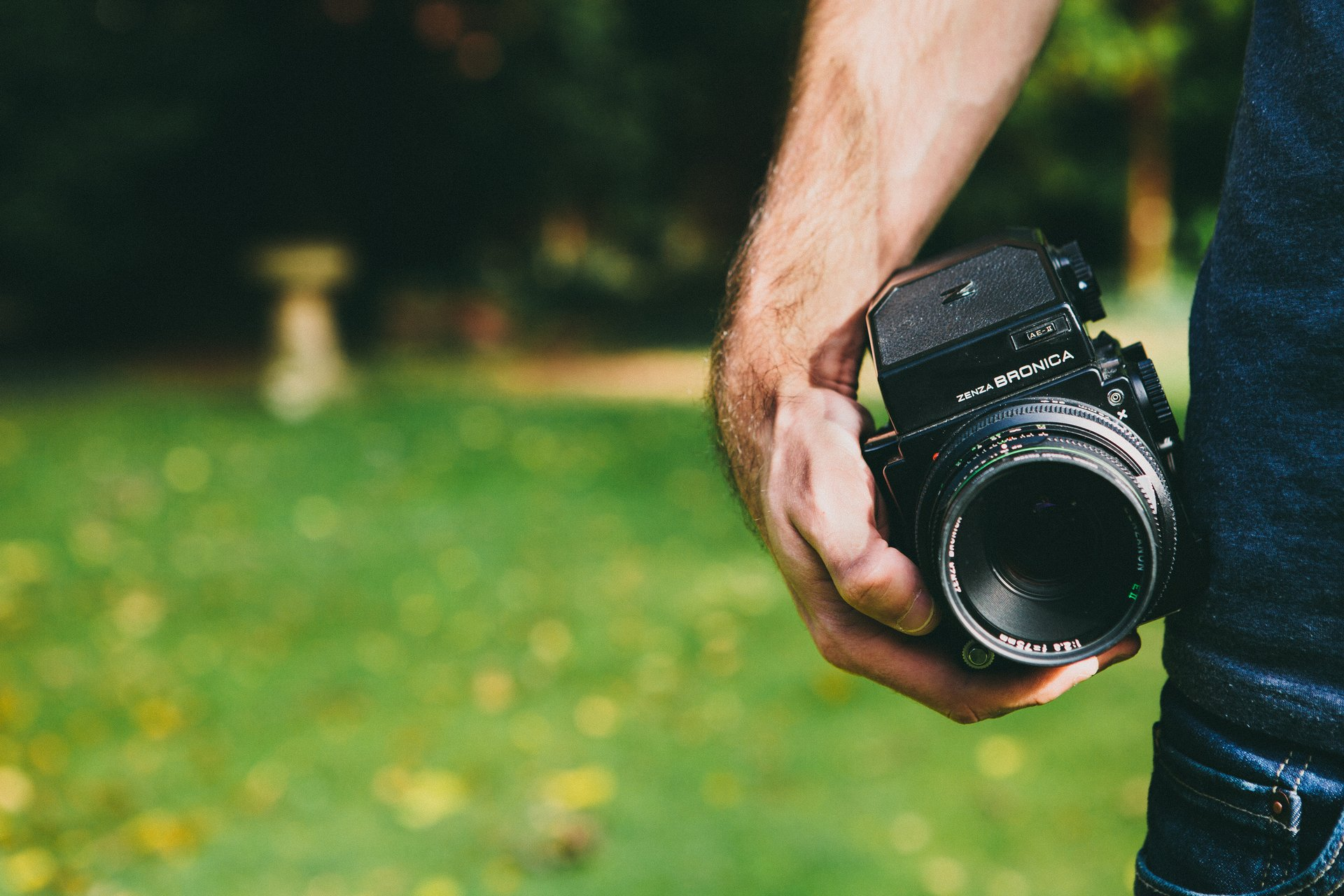 Man with Bronica camera (Pic: Little Visuals/pexels)