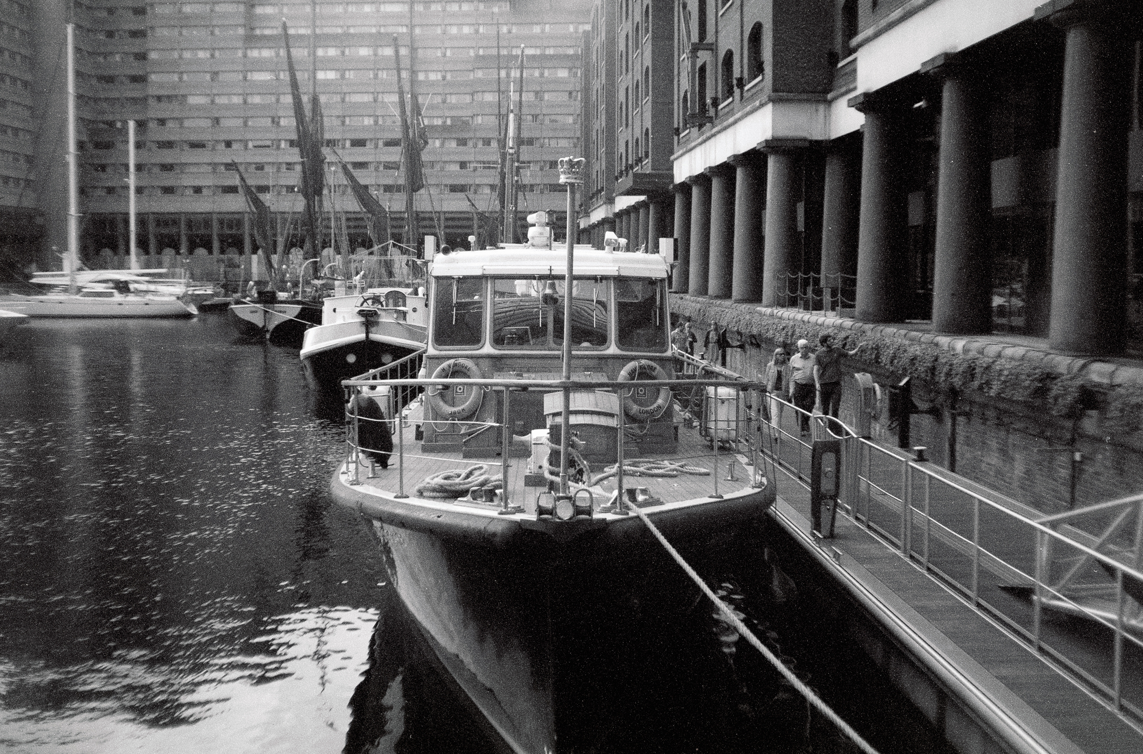 Boat in Docklands (Pic: Stephen Dowling)
